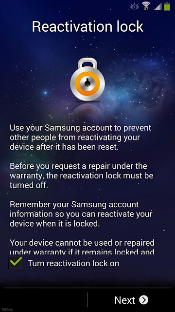 Activating the setup lock reactivation account