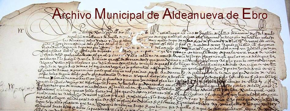Archivo Municipal de Aldeanueva de Ebro