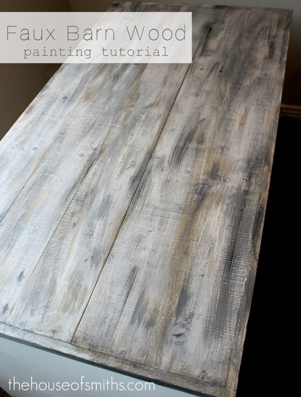 Painting Faux Barn Wood