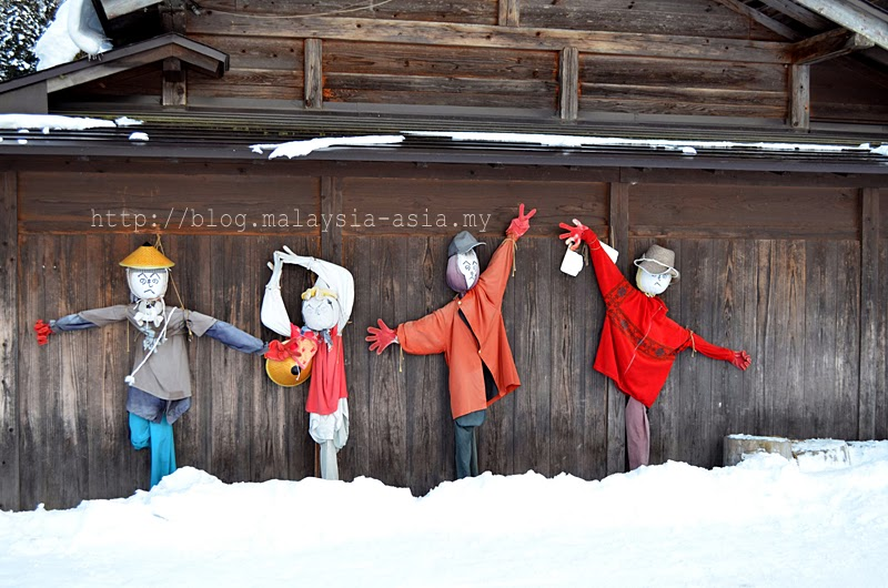 Shirakawa Go Village Scarecrows