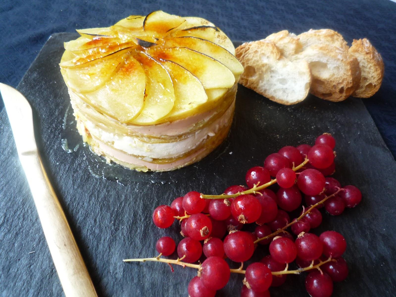 Cocinando con lola garc a milhojas de manzana con foie y - Queso de cabra y colesterol ...