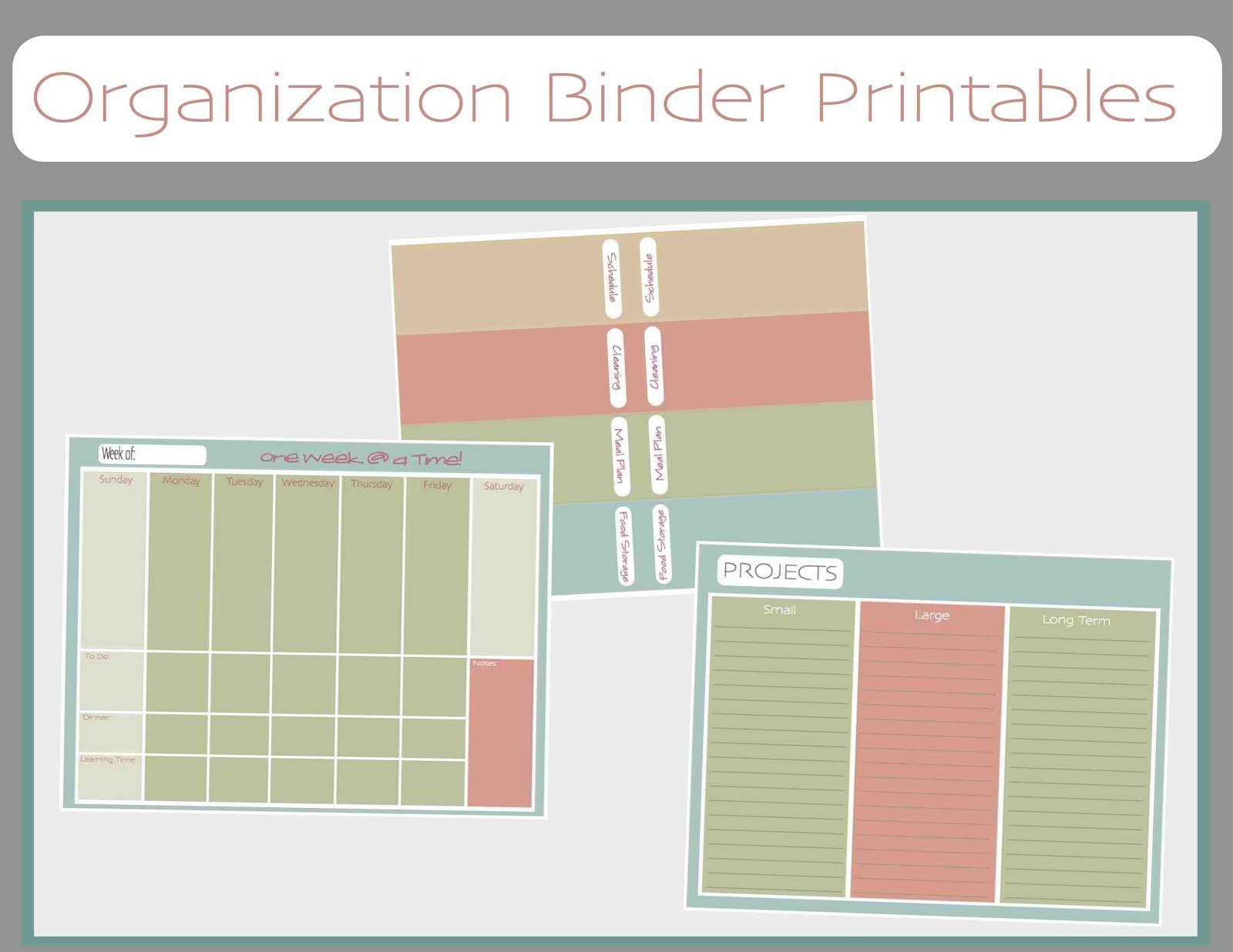just Sweet and Simple: Free Printable Household Organization Binder