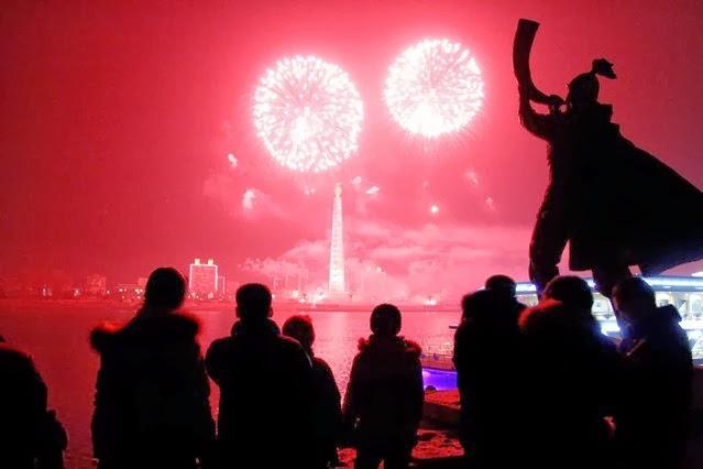 Fuegos Artificiales, año nuevo 2014, Corea del Norte