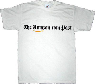amazon the washington post buyouts jeff bezos t-shirt ephemeral-t-shirts newspaper obsolete evolution