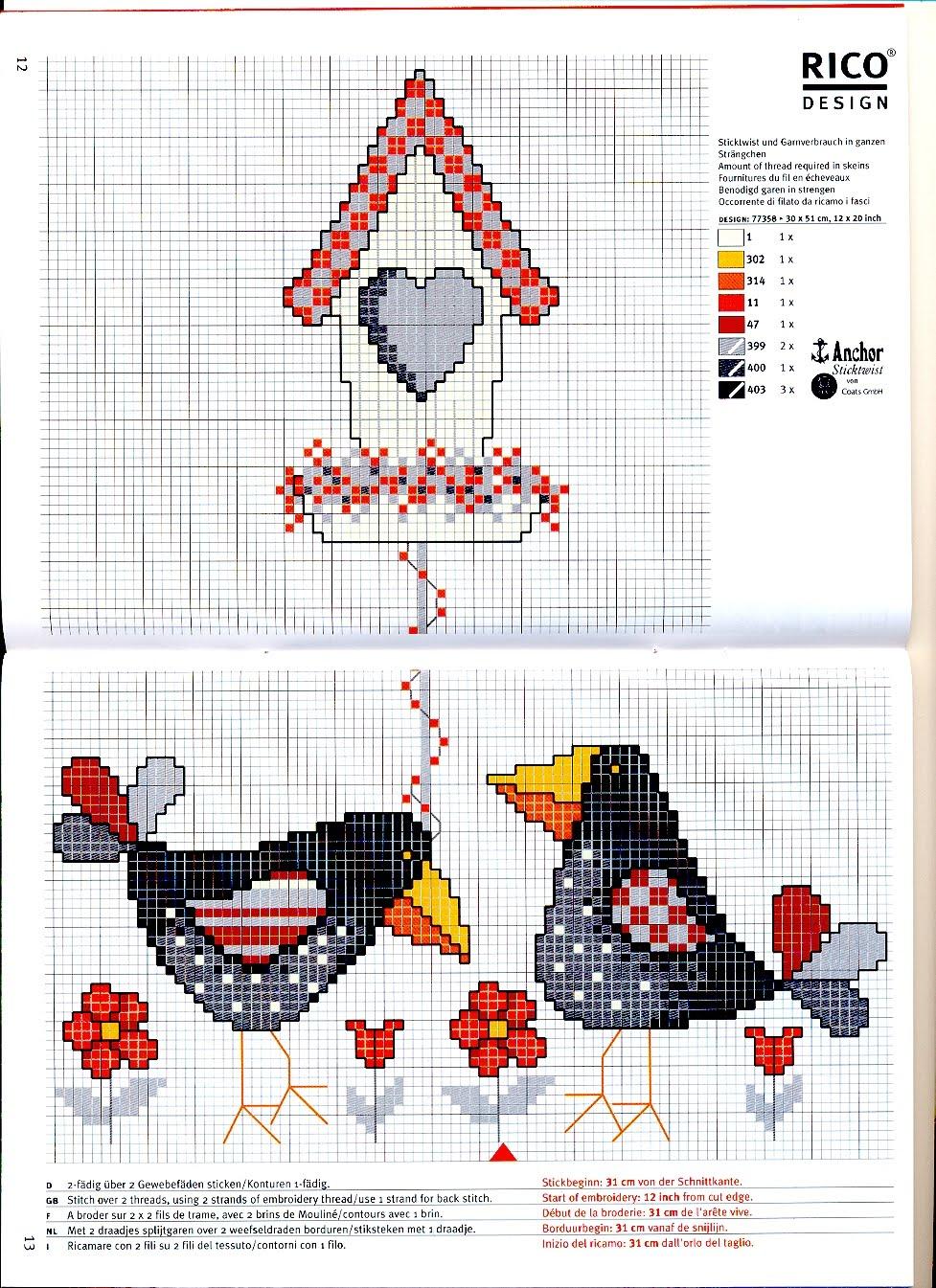 Вышивки крестом схемы ворона 85