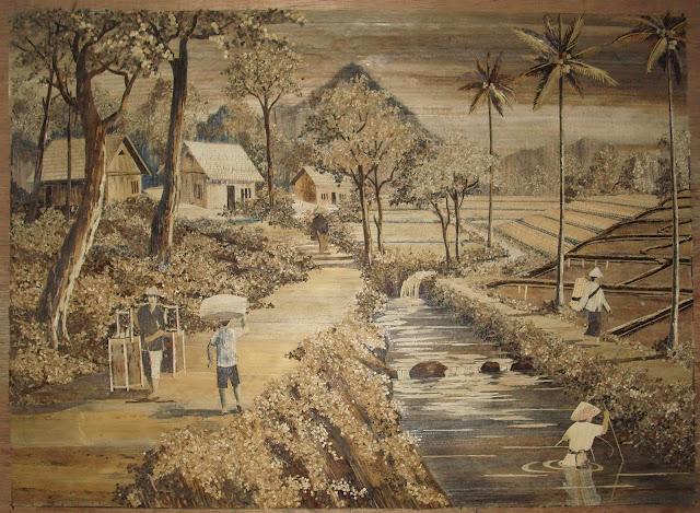 lukisan pelepah pisang