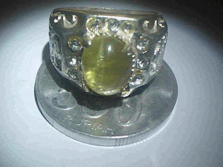 Batu Cincin Tourmaline Cat Eyes