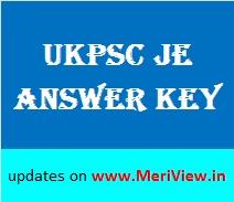 UKPSC Answer key Junior Engineer 06, 07, 08 November 2015