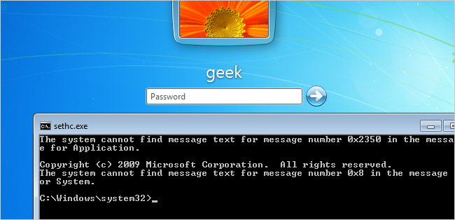 Cara mereset password Windows 7 yang lupa