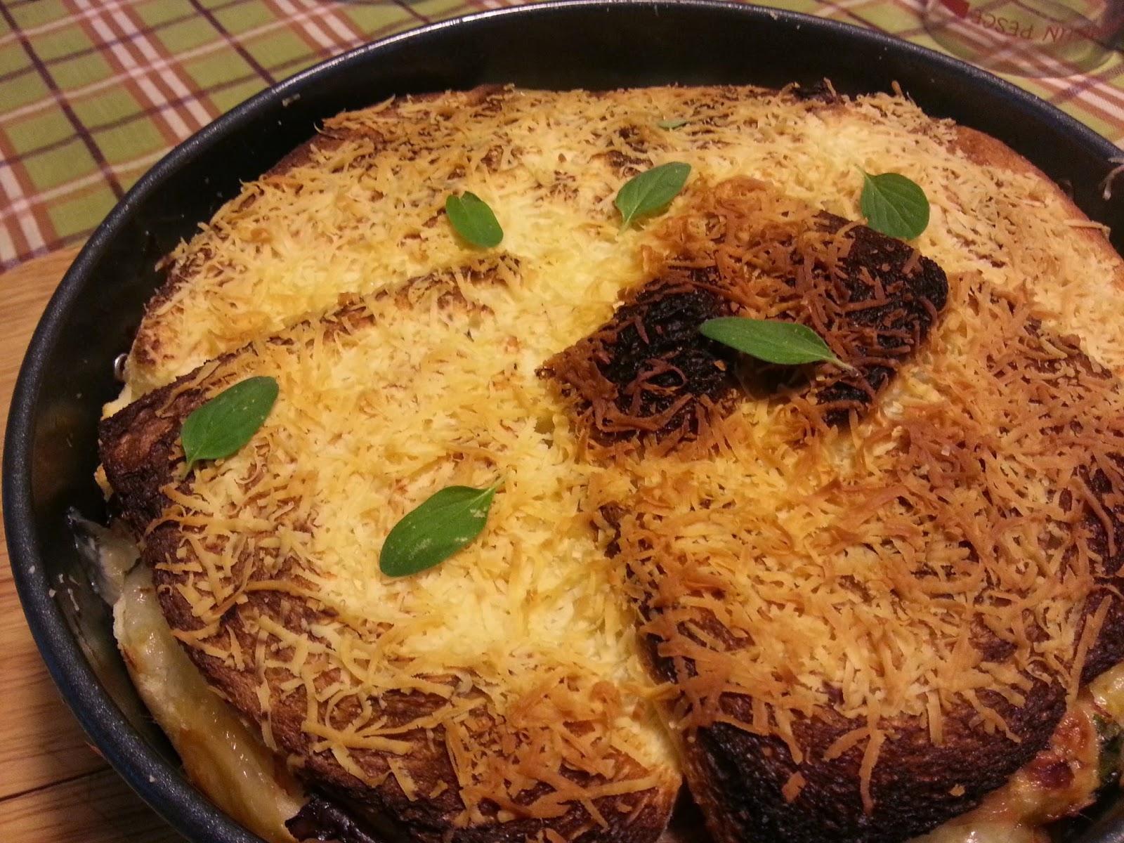 torta di pane, prosciutto e mozzarella