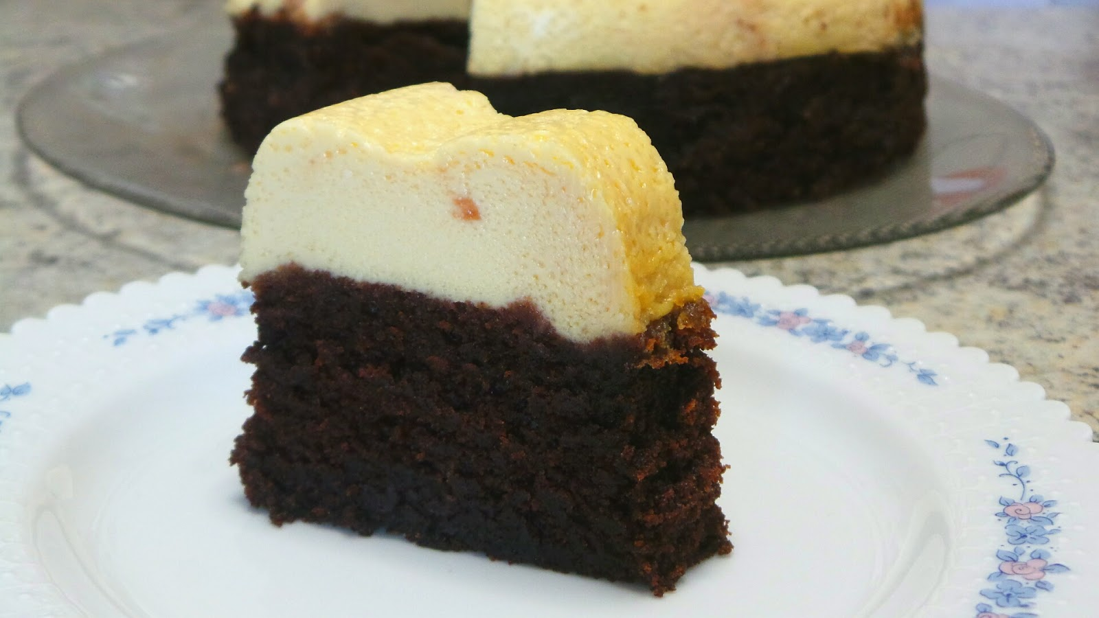 Magic Chocoflan Brownie Cheesecake Bundt Cake