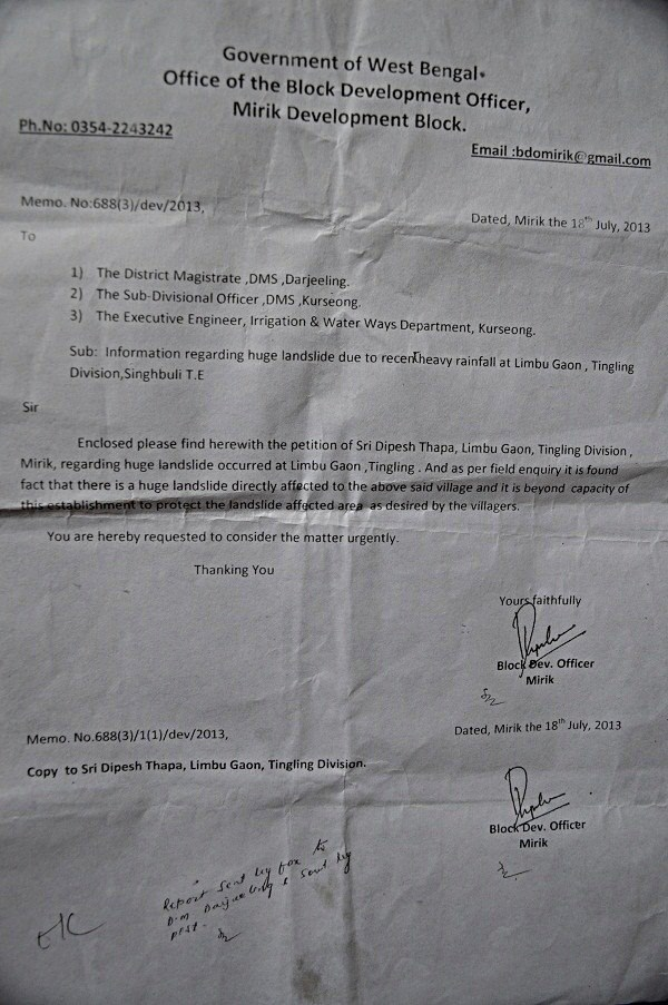 The letter dated November 30, 2011 was received by Mirik BDO