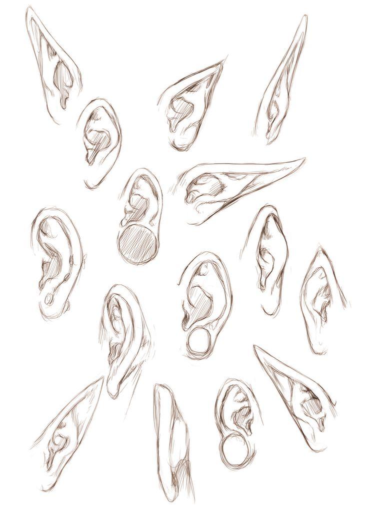 Line Drawings From D Models : Otaku sweet como desenhar orelha olhos boca e nariz