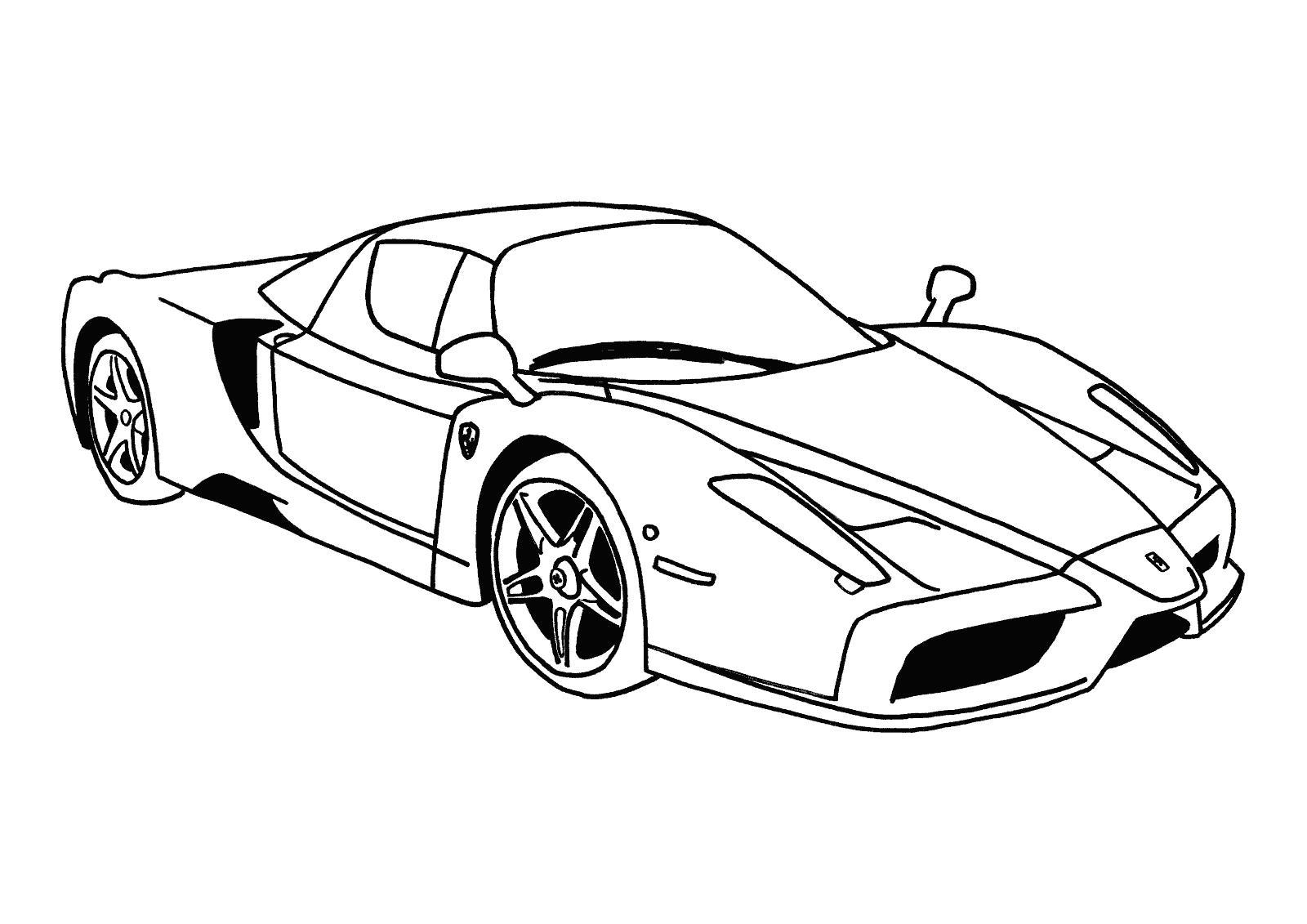 Transportes para colorear: + Ferraris