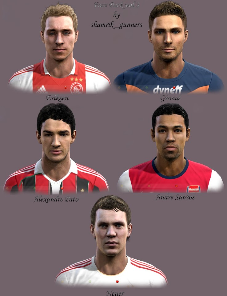PES 2012 Facepack by shamrik gunners