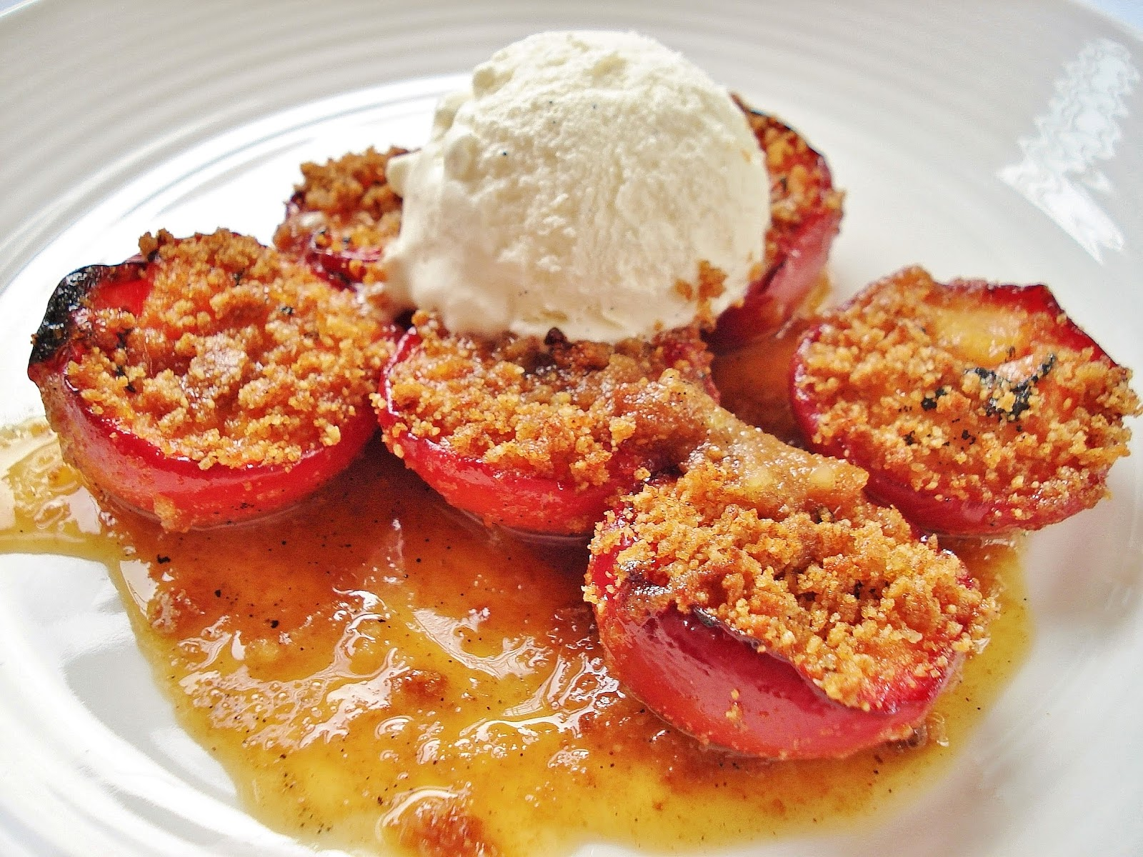 ginger plum crumble add some ice cream and it s ginger plum crumble ...