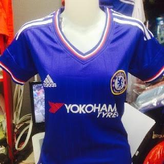 jual online jersey di pasar tanah abang jakarta pusat enkosa sport toko onile terpercaya Detail gambar foto kamera Chelsea home ladies terbaru musim 2015/2016