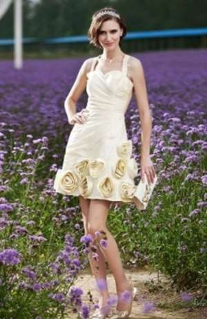 Gown To An Outdoor Wedding Ceremony