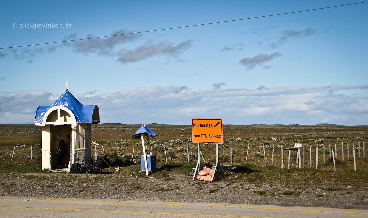 Bushaltestelle Patagonien