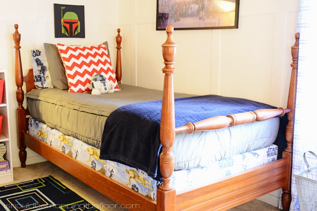 Boy's Bedroom Mini Makeover | Star Wars Themed Room with Beddy's Bedding