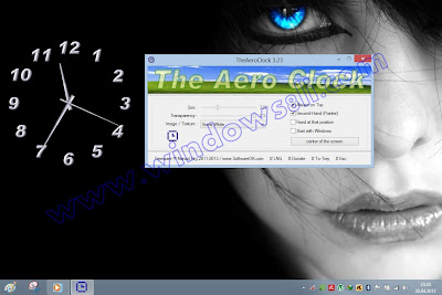 Windows 8 saat TheAeroClock