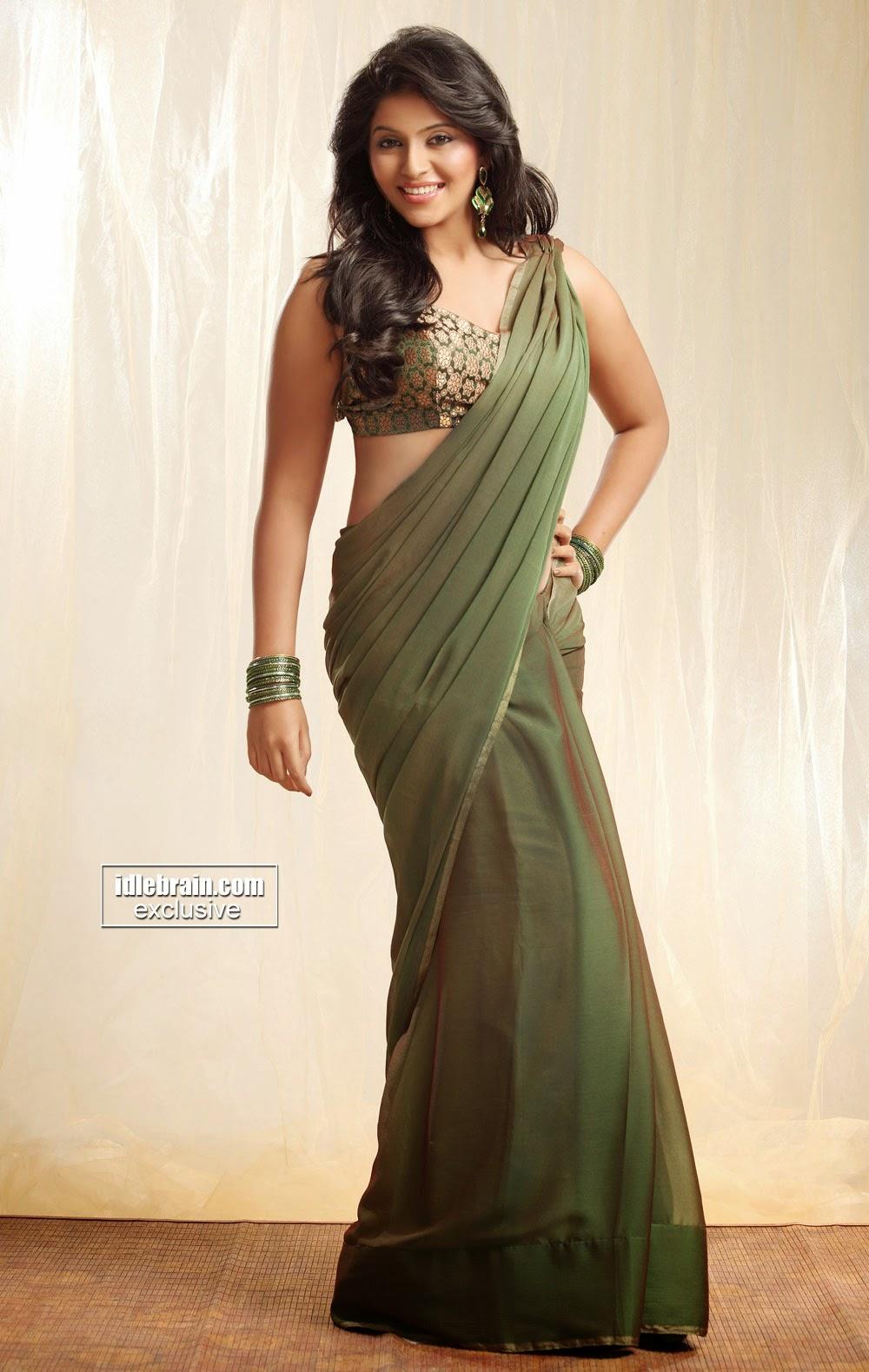 Anjali green saree