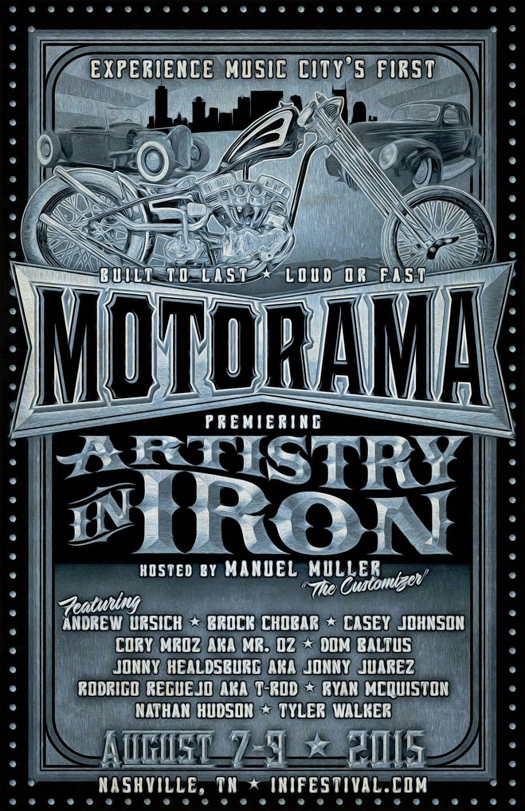 Ink N Iron Motorama Artistry In Iron 2015 Brock Chobar Nashville TN