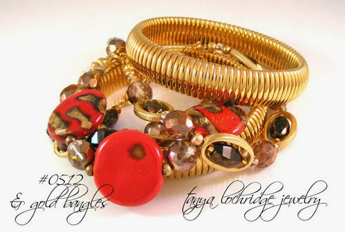 Kazuri Bead Red Threes the Charm Collection Bracelet