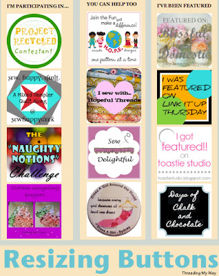 Keep the buttons on your blog neat and tidy by learning how to resize them... TUTORIAL ~ Threading My Way