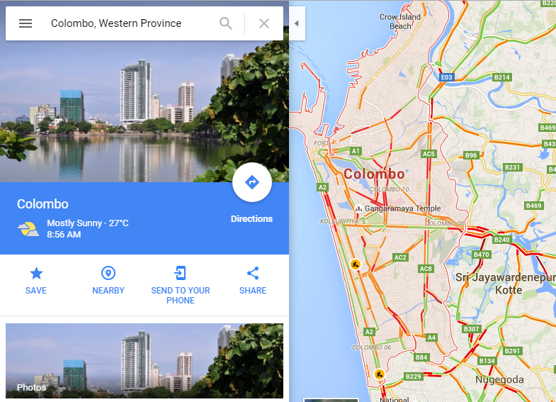 Google live traffic updates now enabled for sri lanka sciox Image collections