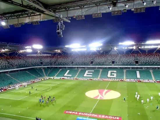 Stadion Legii podczas meczu z Apollonem Limassol - fot. Tomasz Janus / sportnaukowo.pl