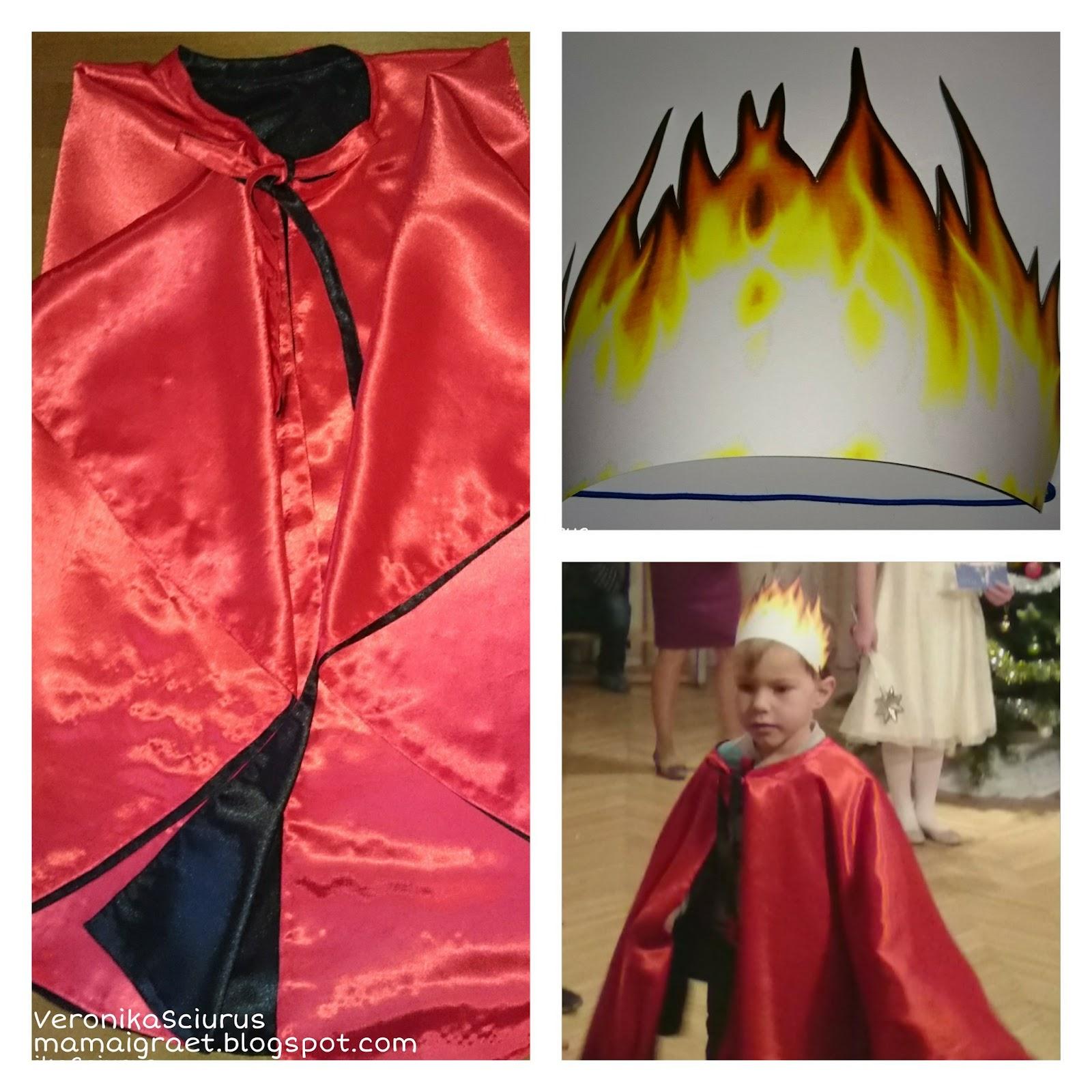 Как сшить костюм огня для девочки 43