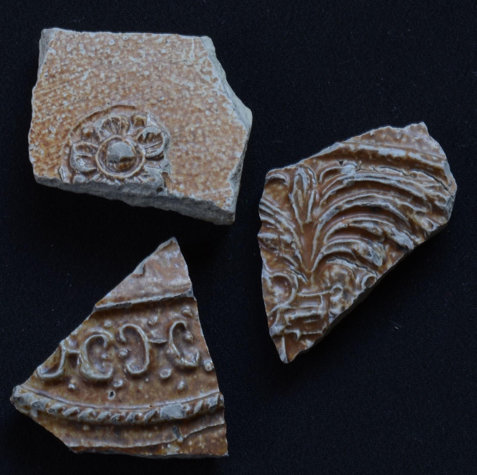 German or English Salt Glazed Stoneware Relief Patterns 1550 - 1700