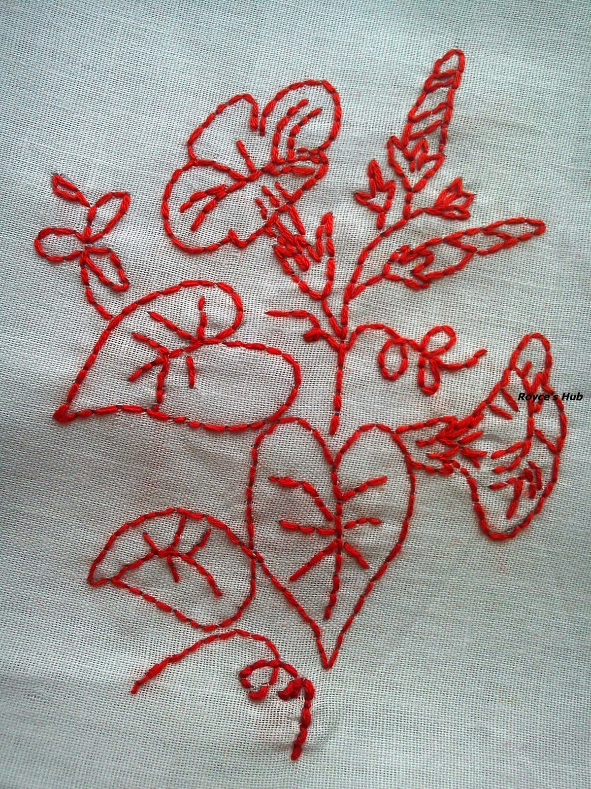 ... Hub: Basic Embroidery Stitches : Back Stitch in Redwork Embroidery