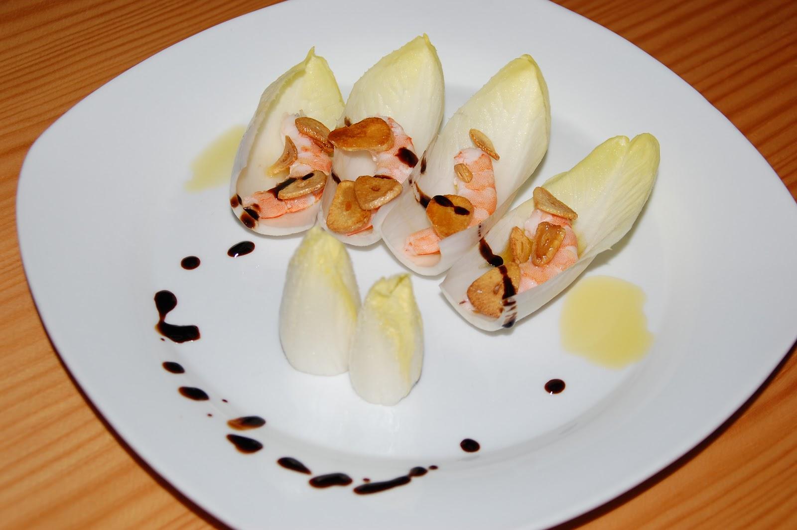 Mis ensaladas favoritas ensalada de endivias con langostinos - Ensalada de langostinos ...