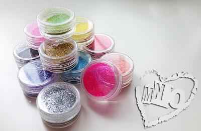 fine assorted nail glitter pots