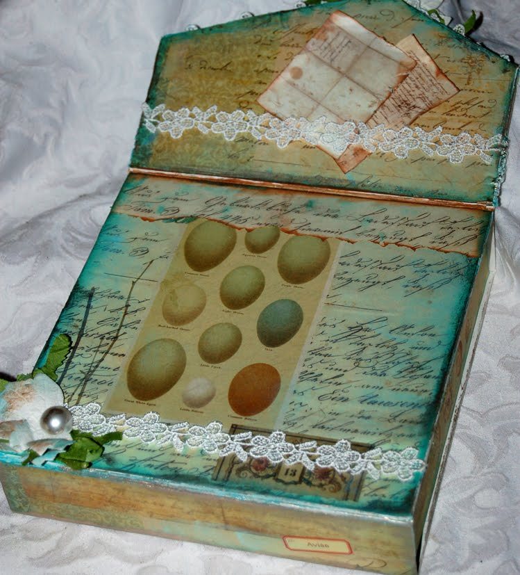 : From Napkin box to Correspondence box: Designed for calico crafts