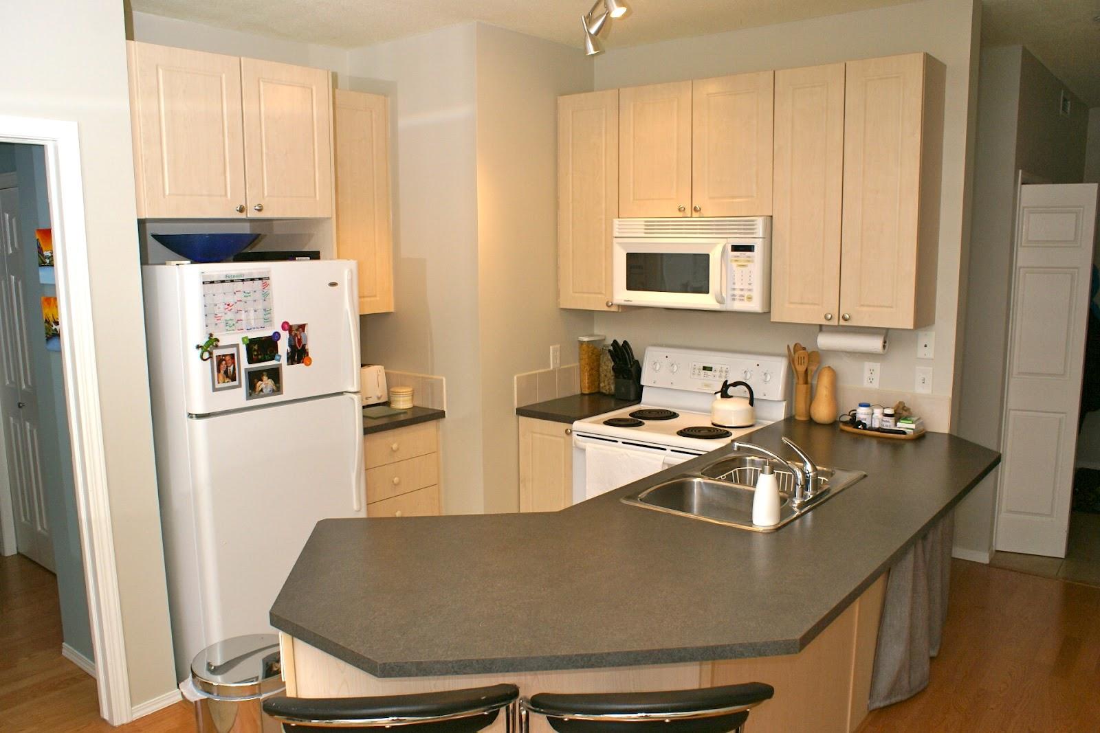 The Cozy Condo Kitchen Needing Tlc