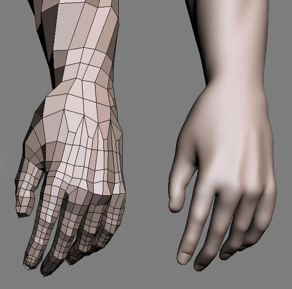 Blender 3d Hand ~ Hand topology modelling texturing rendering animation