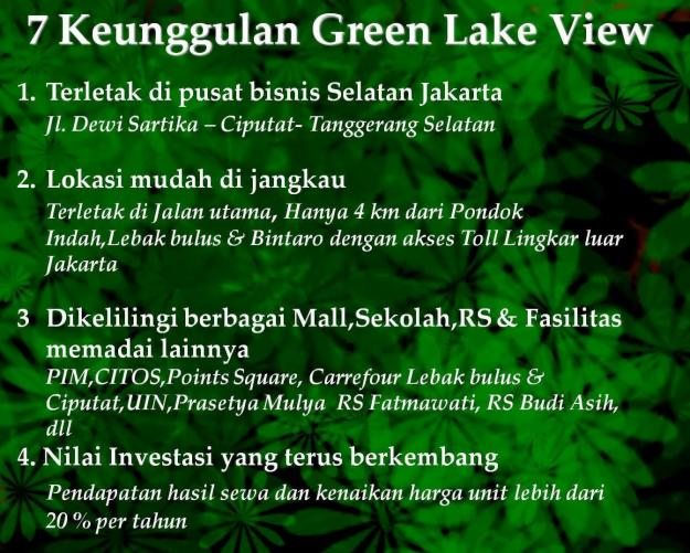 Apartemen Green Lake View   Glv