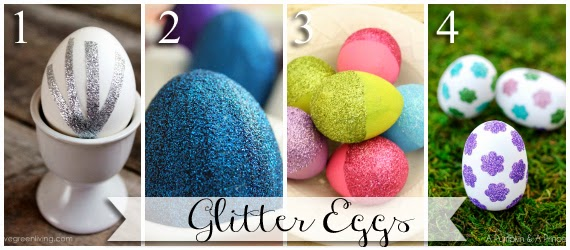 Ways to make glitter Easter eggs