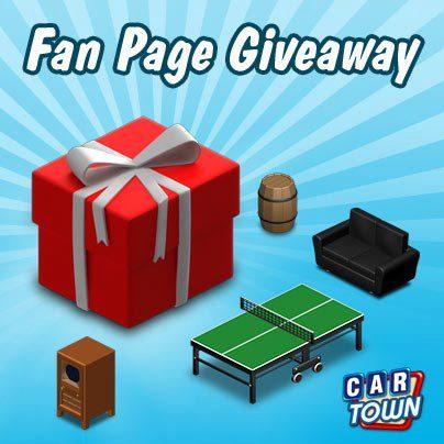 Code promo Fan Page Giveaway III