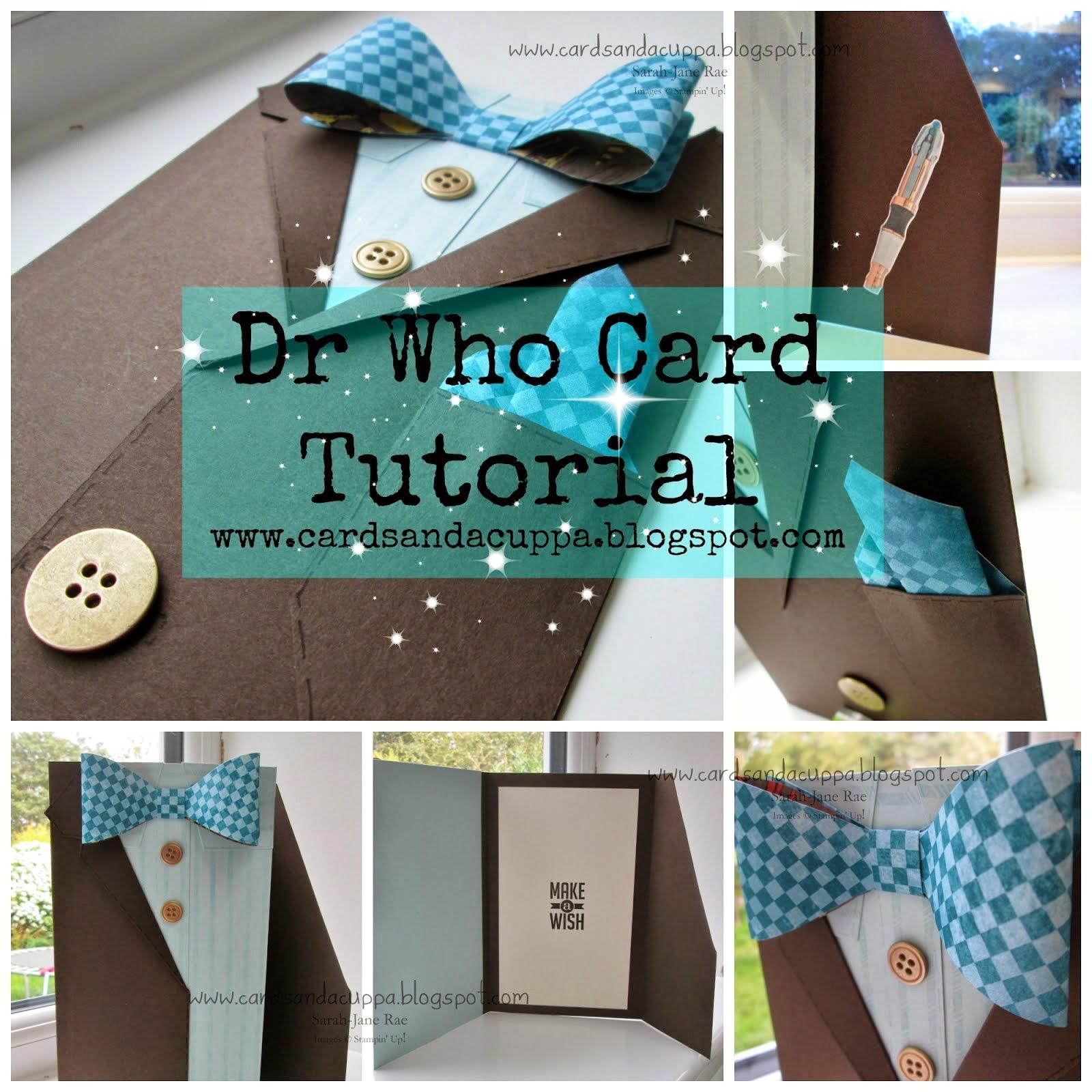 Dr Who/Men's Shirt Card Tutorial