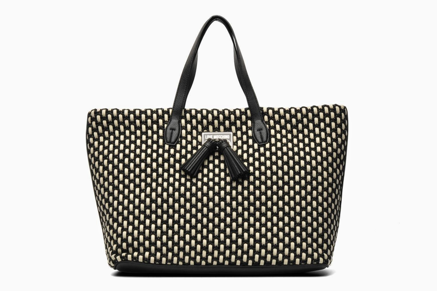 love moschino designer bag woven