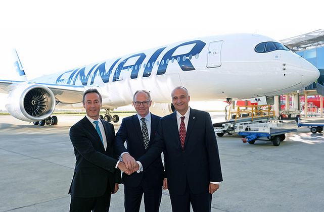 Finnair recibe su primer Airbus A350 XWB