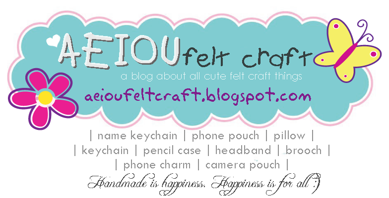 aeiou felt craft
