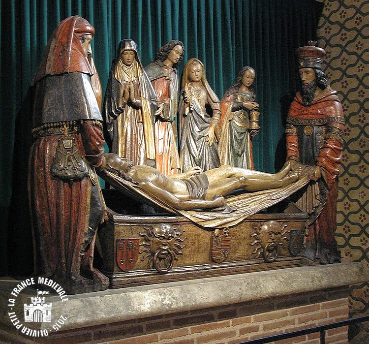 MOISSAC (82) - Mise au tombeau (XVe siècle)