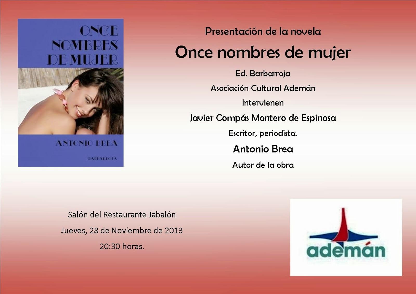 Presentación de la última novela de Antonio Brea