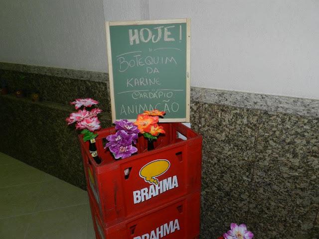 decoracao boteco brahma : decoracao boteco brahma:NO QUADRO: HOJE! BOTEQUIM DA KARINECARDÁPIO: ANIMAÇÃO
