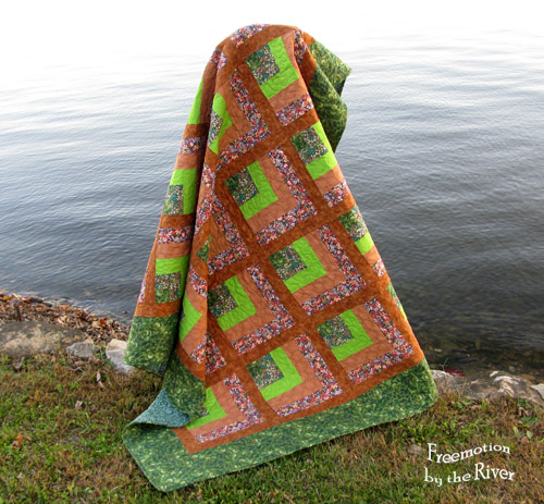 Lime Pie quilt @Freemotion by the River